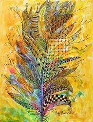 Art: Feather - Zentangle Inspired by Artist Ulrike 'Ricky' Martin