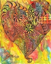 Art: My Heart is in Tangles, Zentangle Inspired Art by Artist Ulrike 'Ricky' Martin