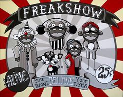 Art: Freakshow by Artist Veronique Perron