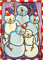 Art: Winter portrait by Artist Veronique Perron