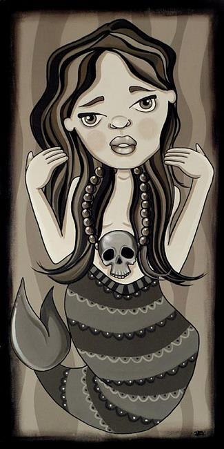 Art: The mermaid by Artist Veronique Perron