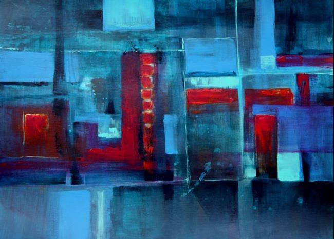 Art: Dog City Nights - Sold by Artist victoria kloch