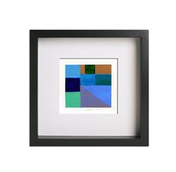 Art: Geometric Study Blue, Green and Gold - Private Collection by Artist victoria kloch
