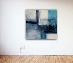 Art: Modern Turquoise - Sold by Artist victoria kloch