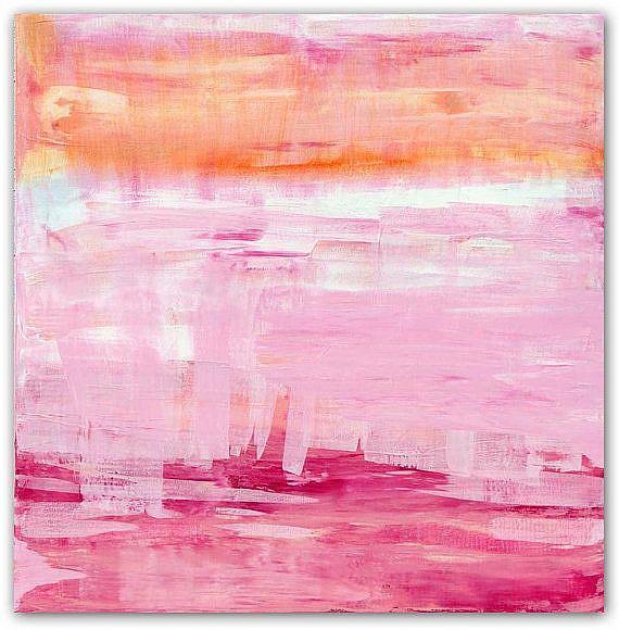 Art: Pink Sky and Marmalade Rain - Sold by Artist victoria kloch
