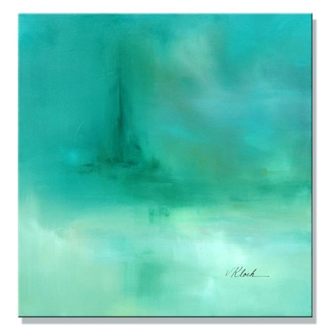 Art: Green Oil by Artist victoria kloch