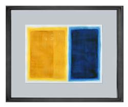 Art: Blue and Yellow Rothko inspired - Sold by Artist victoria kloch