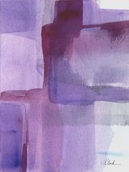 Art: Lavender Field - Sold by Artist victoria kloch