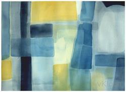 Art: Rhythm in Blues by Artist victoria kloch