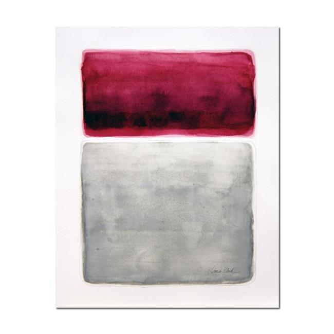 Art: watercolor commission work Rothko inspired by Artist victoria kloch
