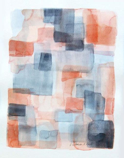 Art: Commissioned  watercolor abstract by Artist victoria kloch