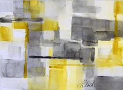 Art: Yellow Block by Artist victoria kloch