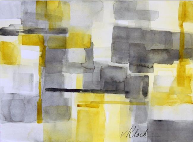 Art: Yellow Block by Artist victoria kloch