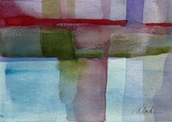 Art: Red Thread - Sold by Artist victoria kloch