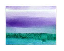 Art: Purple and green ACEO by Artist victoria kloch