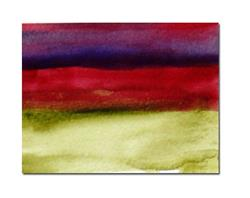 Art: Purple, red and green ACEO - Sold by Artist victoria kloch