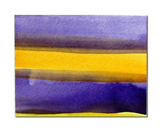 Purple and yellow aceo by victoria kloch from paintings for Purple and yellow painting