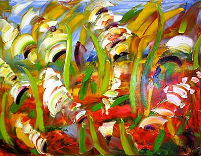 Art: Gladiolus by Artist Laurie Justus Pace