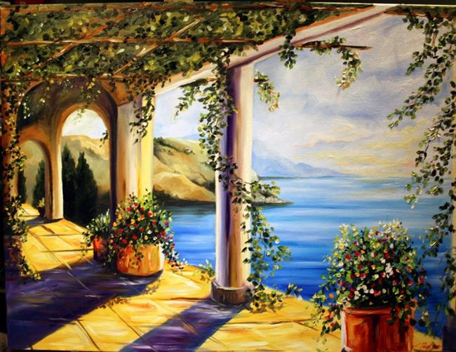 Art: Escape to Tuscany by Artist Laurie Justus Pace