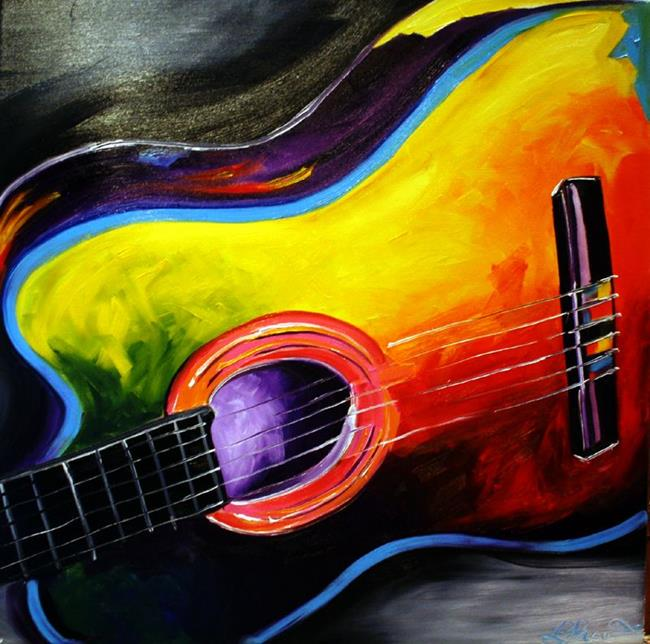 Art: The Guitar by Artist Laurie Justus Pace