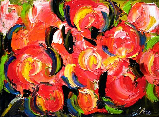 Art: Full Bloom Abstract by Artist Laurie Justus Pace