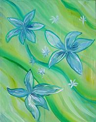 Art: Floral Flow by Artist Padgett Mason