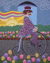 Art: Penny Farthing by Artist Shelly Bedsaul