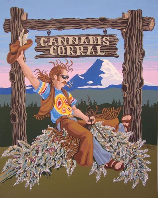 Art: Cannabis Corral by Artist Shelly Bedsaul