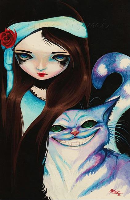 Art: Alice and Cat Darkly by Artist Nico Niemi