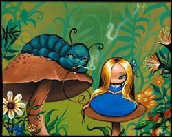 Art: Alice and the Caterpillar by Artist Nico Niemi
