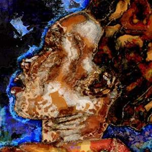Detail Image for art She rides in Santa Fe