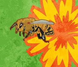 Art: Honey Bee by Artist Mary Ogle