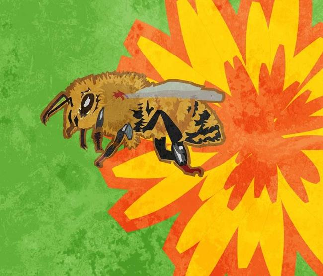 Art: Honey Bee by Artist Mary Ogle