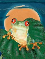 Art: Tree Frog by Artist Mary Ogle