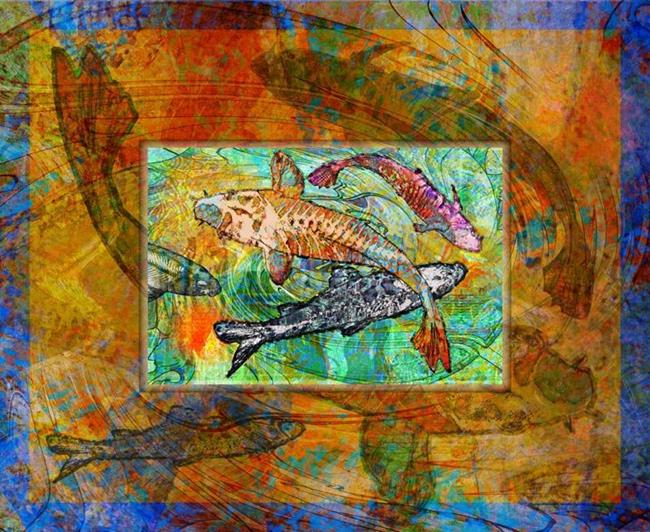 Art: Koi by Artist Mary Ogle