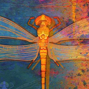 Detail Image for art Flaming Dragonfly