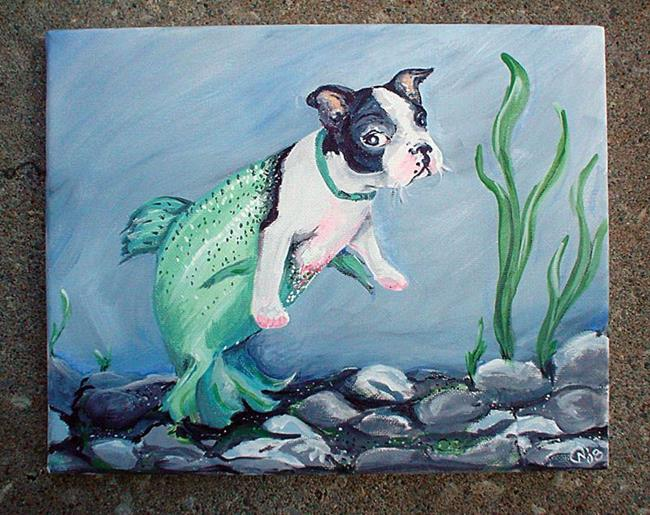 Art: Puppy Not Guppy by Artist Noelle Hunt