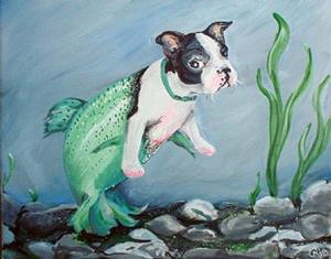 Detail Image for art Puppy Not Guppy