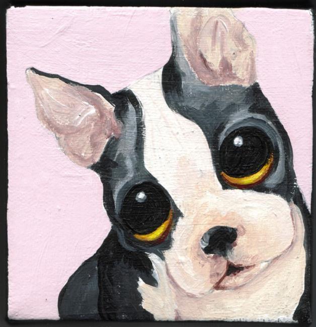 Art: Boston Terrier by Artist Noelle Hunt