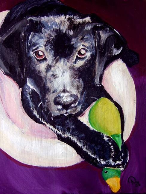 Art: Bonnie the Dog & Mr. Mallard by Artist Noelle Hunt