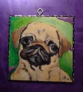 Detail Image for art Polka dot Pug Luv