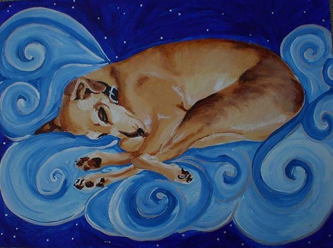 Art: Sasha the dog who dreams by Artist Noelle Hunt