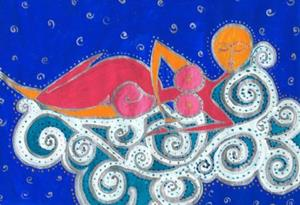 Detail Image for art Sasha the dog who dreams
