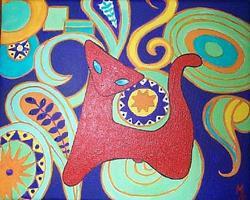 Art: Red Cat Trip Fward  by Artist Marina Owens