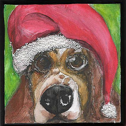 Art: Santa Hound by Artist Noelle Hunt