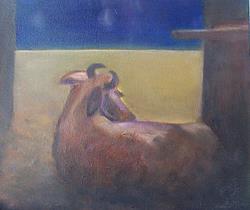 Art: Good Night, Cow by Artist Marina Owens