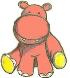 Art: Pink as a Hippo by Artist Marina Owens