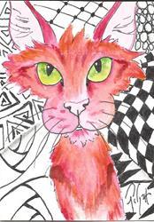 Art: Tic Tac Kitty by Artist Padgett Mason