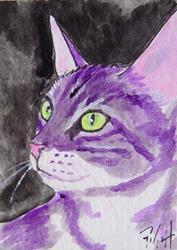 Art: Tabby Profile by Artist Padgett Mason
