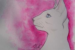 Art: Siamese profile 2 by Artist Padgett Mason